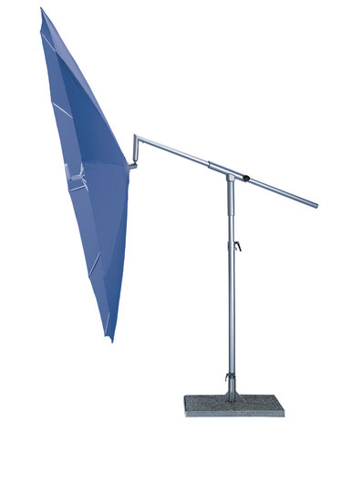 may ampelschirm dacapo mit kurbelbedienung sonnenschirm mit standrahmen blau