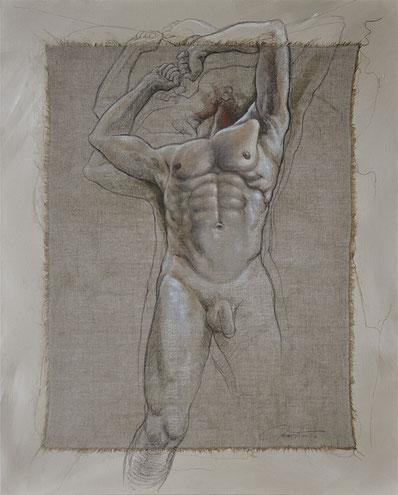 F. Martin©, acrylique sur toile, anatomie, Homme, dessin, corps, mouvement, peinture contemporaine
