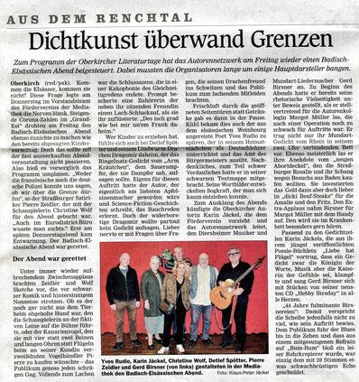 Mittelbadische Presse ARZ am 20.10.2020