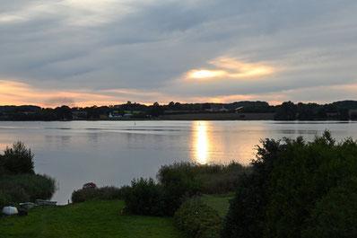 Blick aus unserer Ferienwohnung in Kopperby.
