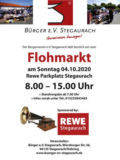 Flohmarkt Stegaurach Debring Rewe 04.10.2020