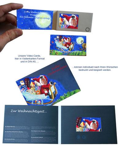 Video-Card Visitenkarten-Format individuell bedruckt und bespielbar Weihnachtskarte