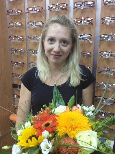 Augenoptikerin Franziska Bischoff in Spremberg
