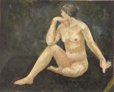 裸婦 油彩15号