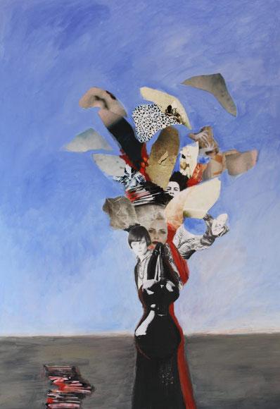 Malerei mit Collage von Jutta Hieret