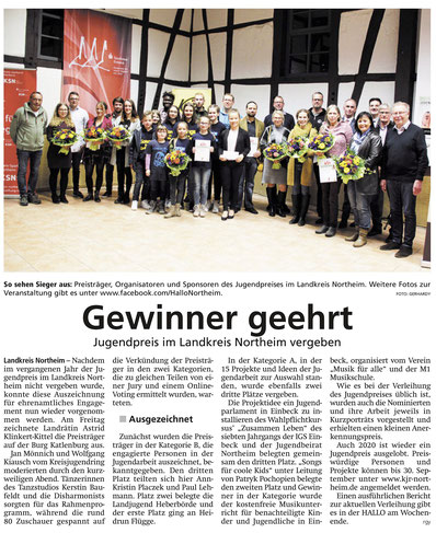 Hallo Northeim vom 20.11.2019