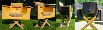 Badewanne in modern designtem Sesselgewand