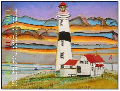 Point Amour Lighthouse, 100x70cm, Pastellkreide auf Papier, Mindestgebot 310€