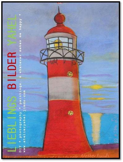 Westkapelle, Holland, 100x70cm, Pastellkreide auf Papier, Mindestgebot 35€