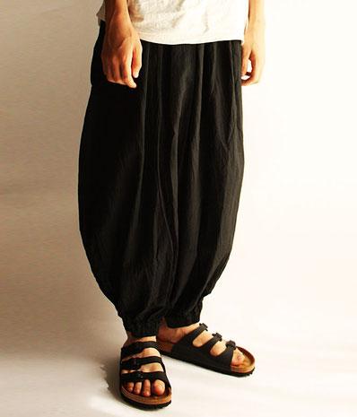 ヂェン先生の日常着 バルーンパンツオリジナル ブラック Lサイズ