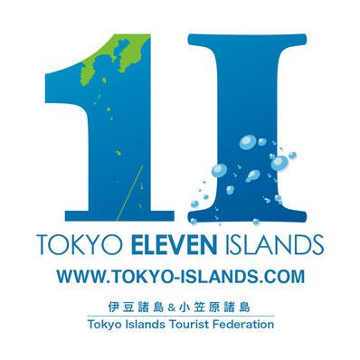 """東京諸島観光連盟""""TOKYO ELEVEN ISLANDS"""" ロゴ"""