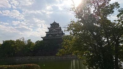 秋の広島城