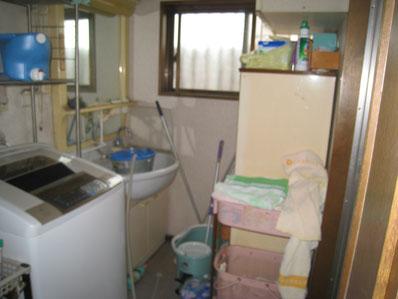 改装前の洗面脱衣室