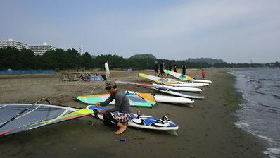 ウインドサーフィン 海の公園 横浜 金沢 ウインドサーフィンスピードウォール