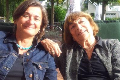 Mit Greta Klingsberg bei einer Vortragsreise