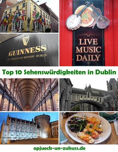 Top 10 Sehenswürdigkeiten in Dublin