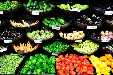 Vielfalt von Lebensmitteln