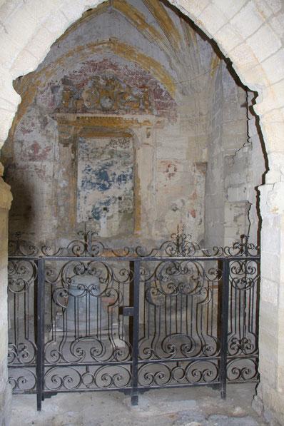 Bild: Seitenkapelle mit Fresken im Kreuzgang in Villeneuve-lés-Avignon