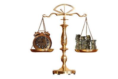 Zeit - Geld - Balance