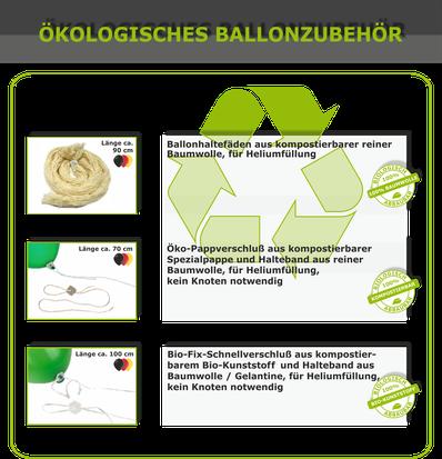 Ökologische Produkte für Ballonsteigeaktionen