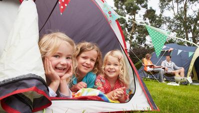 Zelten auf dem Campingplatz Ottermeer Wiesmoor Ostfriesland