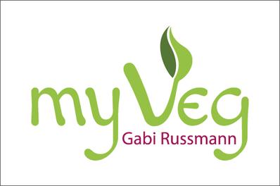 Visitenkarte Vorderseite, Gabi Russmann, my Veg