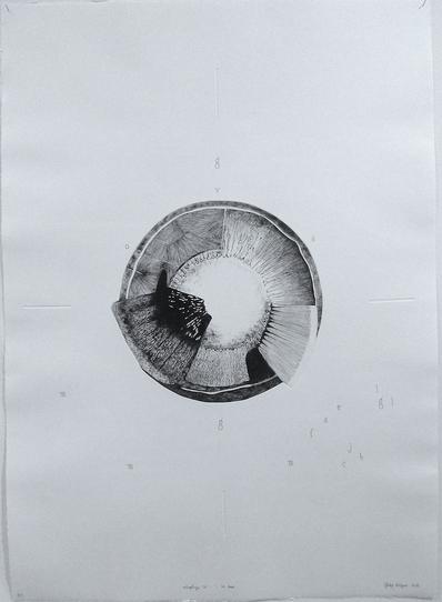 Ontoplogie VII, la focale, 2018, gravure, pointe sèche et crayon,  75 x 105