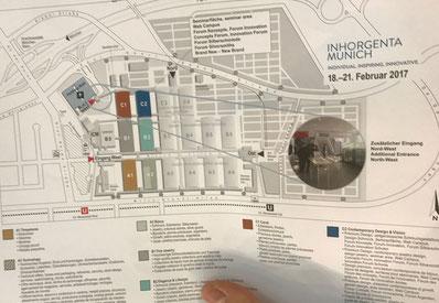 Inhorgenta, München, Messeplan, Goldschmiede