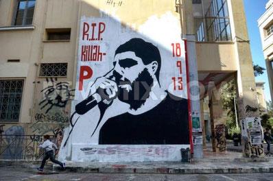 Den 34-årige antifascistiske rap-musiker Pavlos Fissas blev mydet af fascister d.17. september 2013