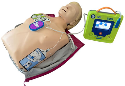 Little Anne QCPR mit ZOLL AED 3 Trainer