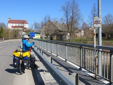 Die Grenze zu Lettland.