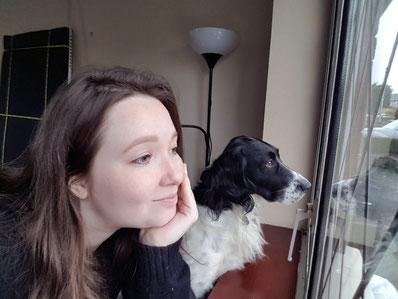 Carina mit Hund Luca