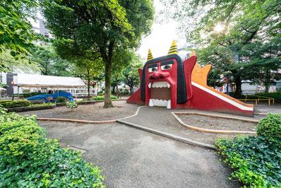 オニ公園として有名な錦第二公園