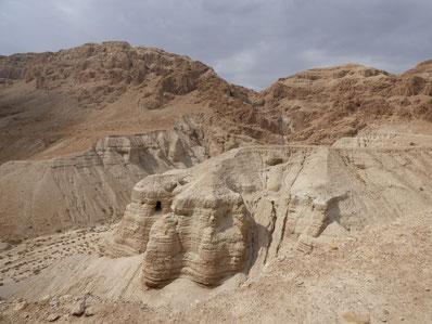 Кумран - место находки свитков Мертвого моря.