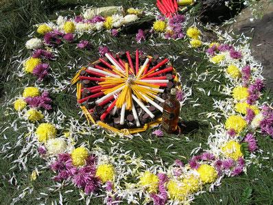 Eugenia Corne, bougies rituelles, ceremonie maya, cholq'ij maya, doula quimper, doula bretagne, doula finistère, Jamaril, faja, matriz y flor,