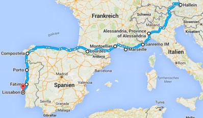Karte Italien Frankreich.Italien Frankreich Spanien Portugal Reimoreisens Webseite