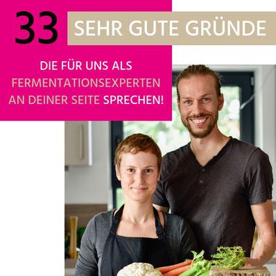 Maria & Marco von SAUER MACHT GLÜCKLICH | fermentierte Lebensmittel - von Hand hergestellt und nach Hause geliefert. Vegan. Roh. Glutenfrei. Natürlich. Gesund. Lecker.