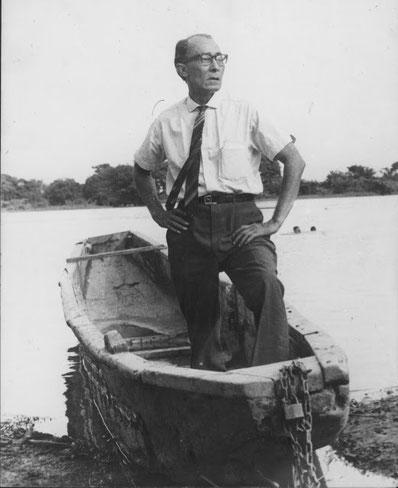 El Cantor del Río a orillas del Río Magdalena en 1968.