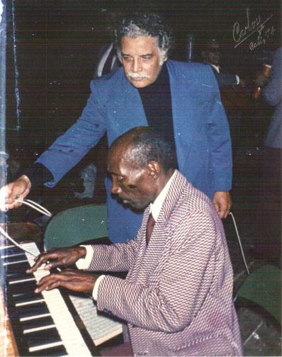 Daniel Santos y Lino Frias, Cali 1974 (Foto Carlos Molina),