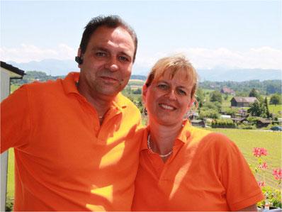 Ein eingespieltes Team: Matthias und Chantal Studer. Bild: zvg