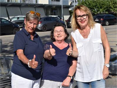 Das Team ist komplett: Angélique Renner, Erika Rota, Marianna Büchler (v.l.n.r.). Bild: zvg