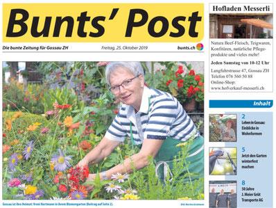 Gossau ist ihre Heimat: Vreni Hartmann in ihrem Blumengarten. Bild: Martina Gradmann