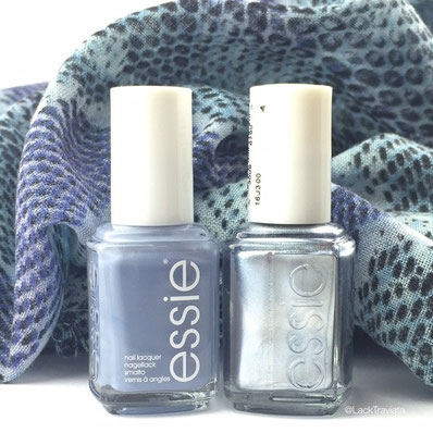 essie truth or flare & blue rhapsody