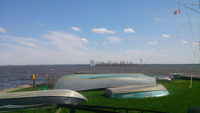 Une vue sur le lac Saint-Louis