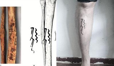 Vom Originalfund zum Tattoo von Rhoda Fromme