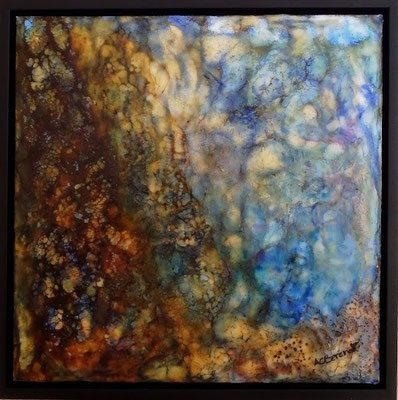 Coral Sea Spirit - Encaustic Wax Painting - by Anne Berendt