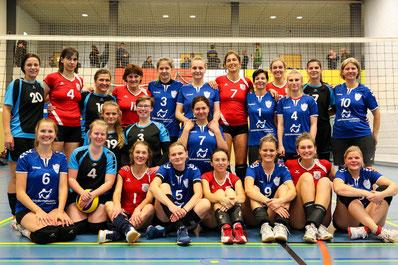Damenmannschaften aus Dresden, Berlin, Leipzig, Zwickau und Halle/S.