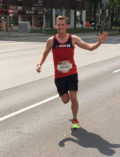 gute Stimmung auch im Rennen bei Michi (Foto: privat)