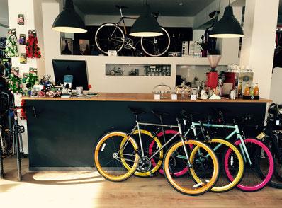Singlespeeder Tresenbereich Fahrradcafé