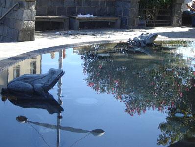 le bassin au pied de Ste Agathe